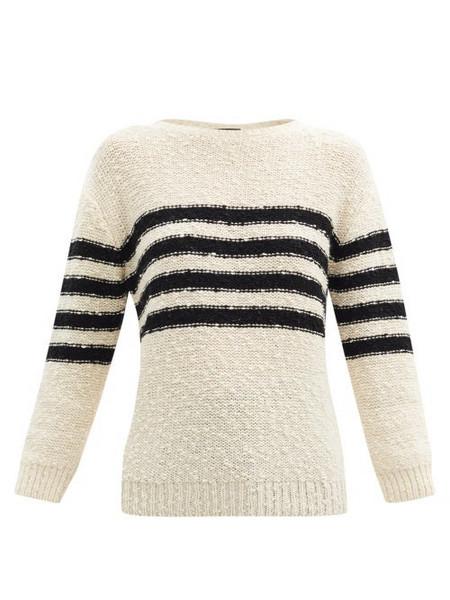 A.P.C. A.P.C. - Luzia Striped Wool-blend Sweater - Womens - Ivory