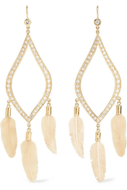 Jacquie Aiche - 14-karat Gold Diamond Earrings