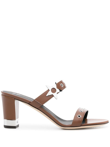Giuseppe Zanotti double-strap leather sandals in brown