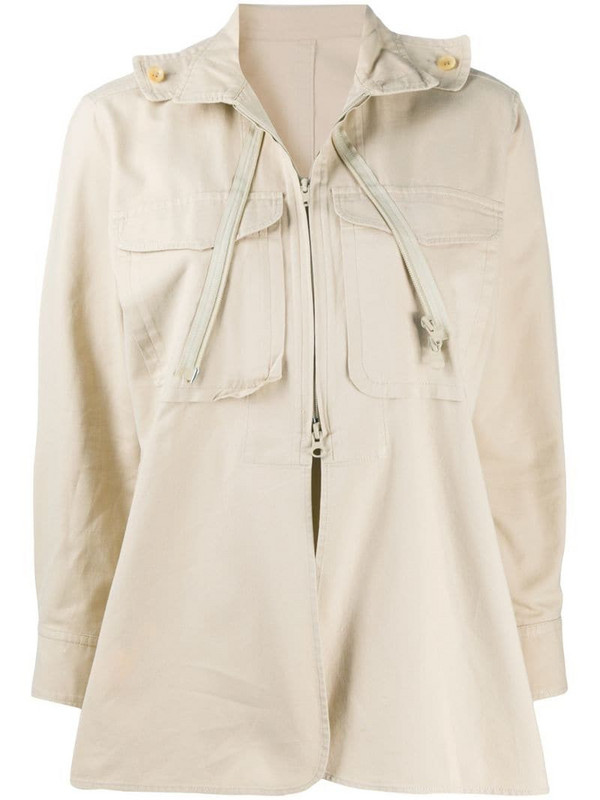 Yohji Yamamoto Pre-Owned military-inspired jacket in neutrals