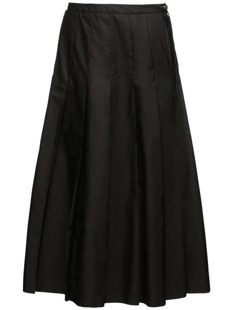 MONCLER Nylon Midi Skirt in black