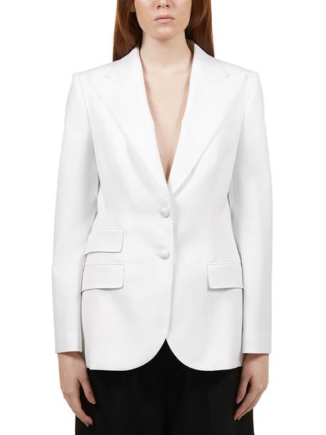 Dolce & Gabbana Fitted Blazer in bianco