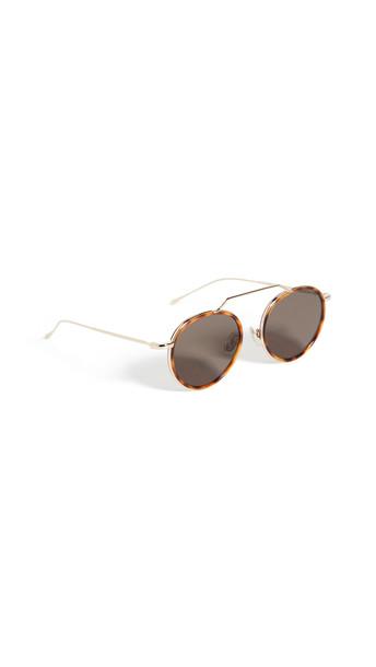 Illesteva Wynwood Ace Sunglasses in gold / grey