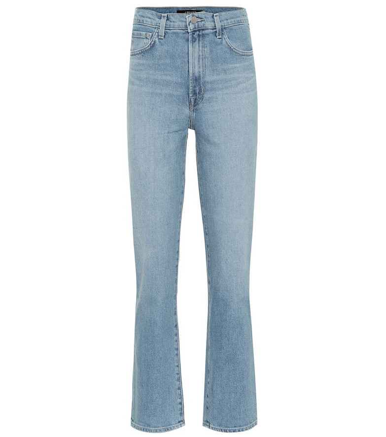 J Brand Jules high-rise straight jeans in blue