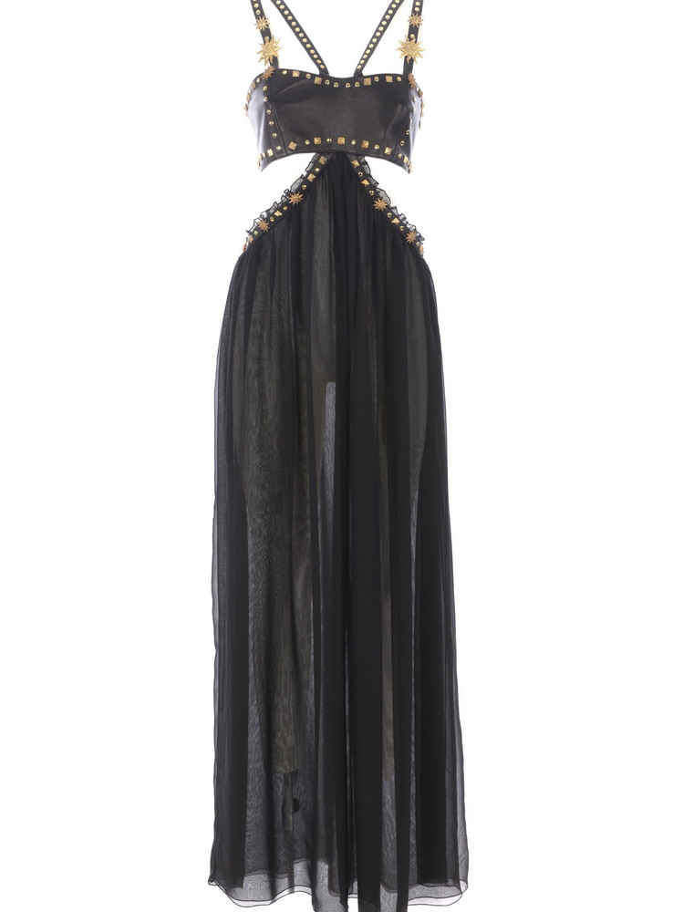 Fausto Puglisi Embellished Dress in nero