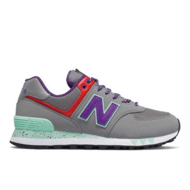 New Balance 574 Women's 574 Shoes - Grey/Purple (WL574WOA)
