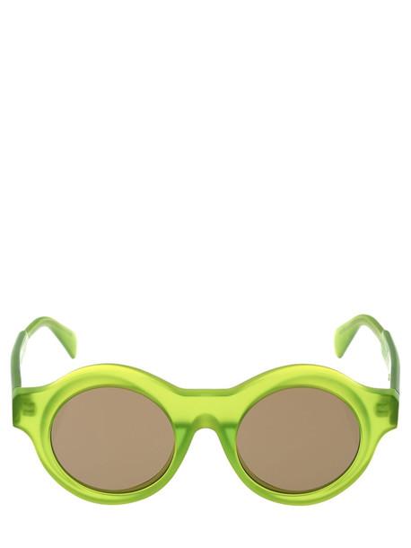 KUBORAUM BERLIN A1 Matte Fluo Green Round Sunglasses