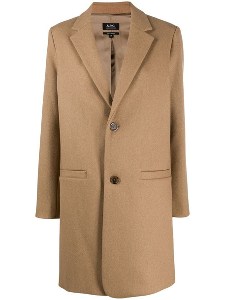 A.P.C. single-breasted coat in neutrals