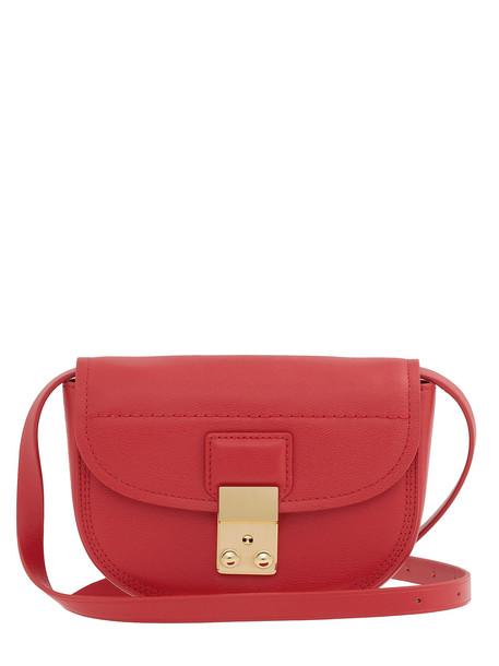 3.1 Phillip Lim Pashli Mini Saddle Belt Bag in red