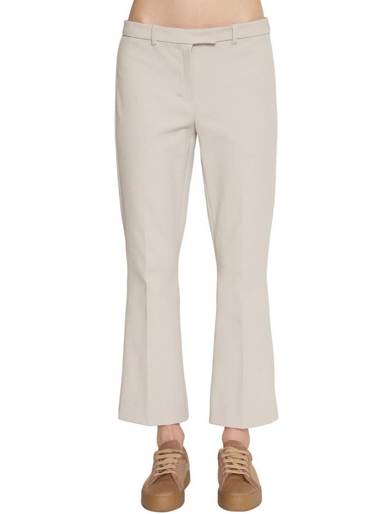 MAX MARA 'S Flared Stretch Cotton Twill Pants