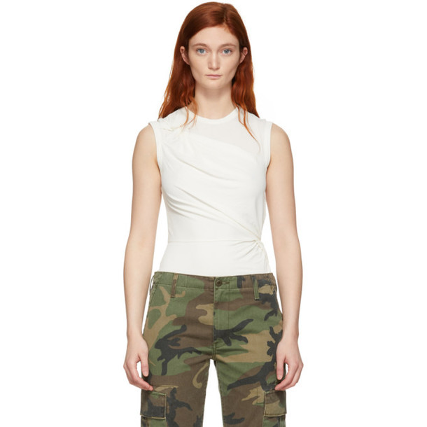 alexanderwang.t Off-White Twisted Top