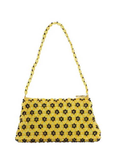 SHRIMPS Dawson Beaded Baguette Bag in yellow
