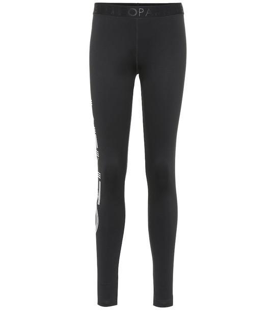 Kenzo Logo stretch cotton leggings in black