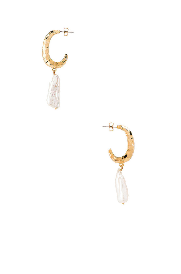 Five and Two Aura Earrings in gold / metallic