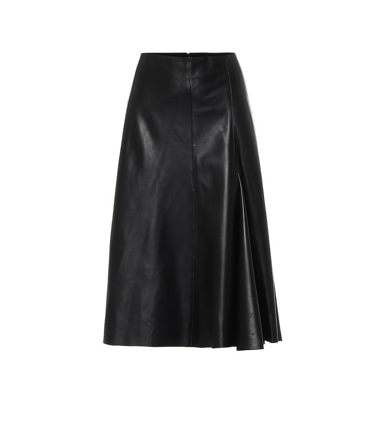 Joseph High-rise leather skirt in black