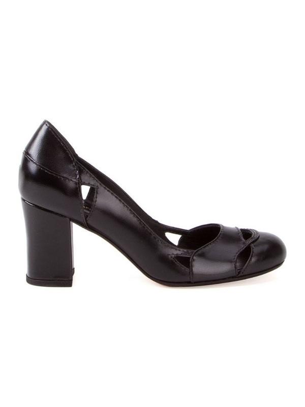 Sarah Chofakian Bruxelas leather pumps in black