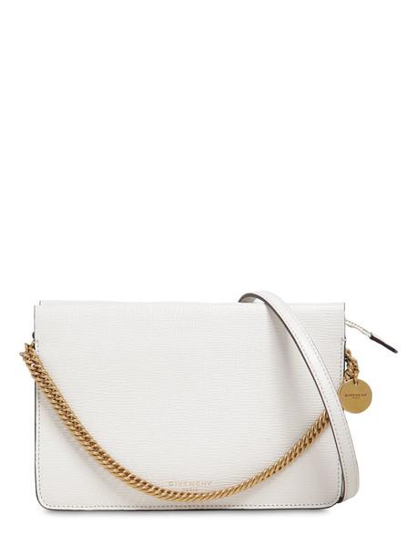 GIVENCHY Cross3 Leather Shoulder Bag in black / white