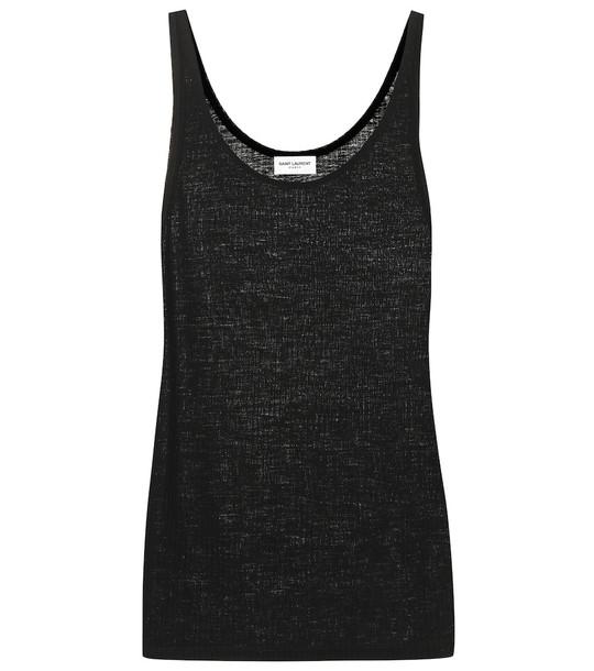Saint Laurent Virgin-wool vest in black