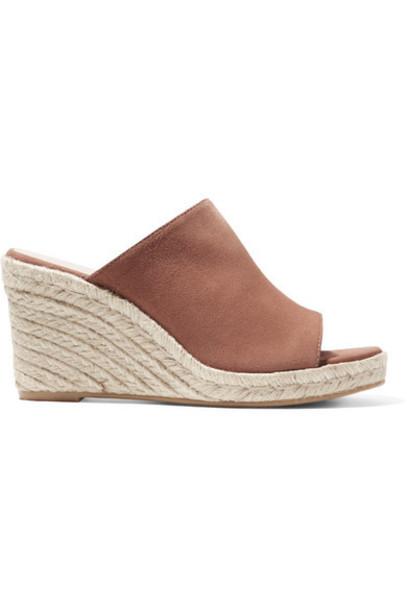 Stuart Weitzman - Marabella Suede Espadrille Wedge Sandals - Light brown
