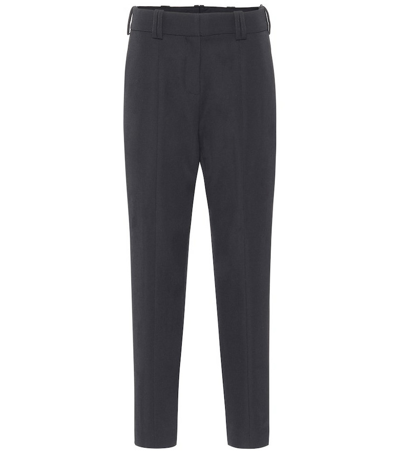 Balmain Wool high-rise tapered pants in black