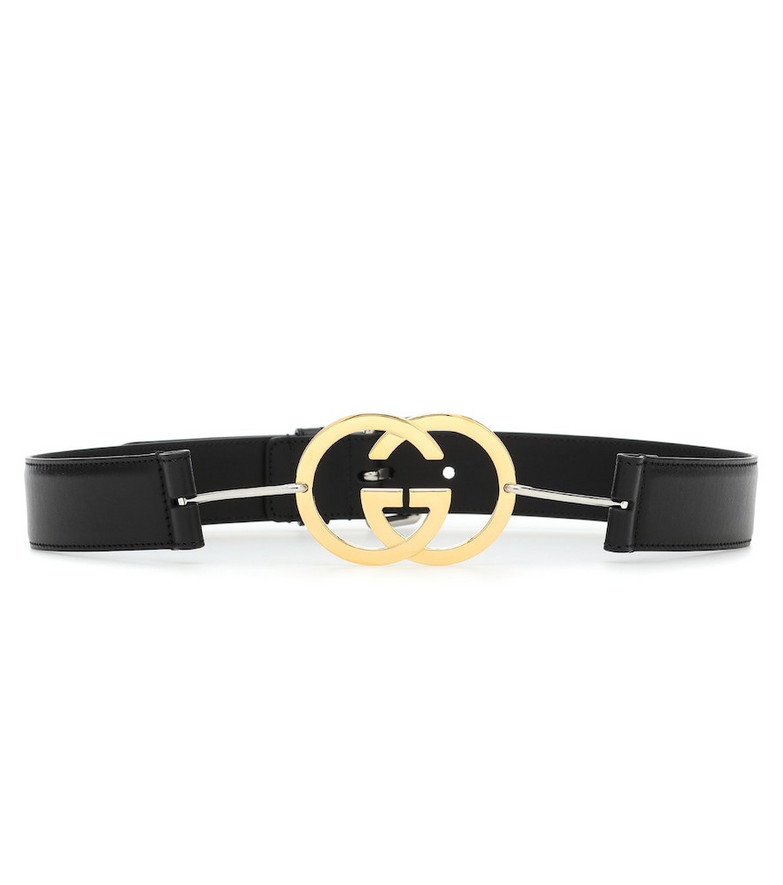 Gucci GG leather belt in black