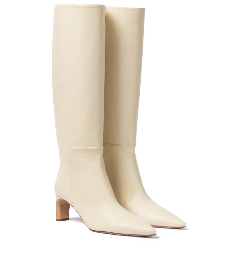 Jil Sander Leather knee-high boots in white