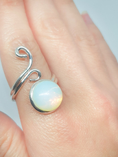 jewels,opal,opal ring,moonstone ring,silver ring,spiral,spiritual,healing,crystal,crystal jewelry,crystal healing,opal birthstone,birthstone,jewelry,fashion,gemstone ring,gift ideas,ring gift ideas,opal gift ideas,ring,rings and tings,opal gemstone ring,rings cute summer