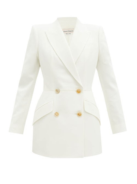 Alexander Mcqueen - Double-breasted Crepe Jacket - Womens - Ivory