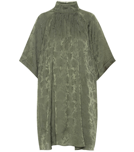 Chloé Jacquard minidress in green
