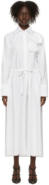 Valentino White Rose Blossom Dress in bianco