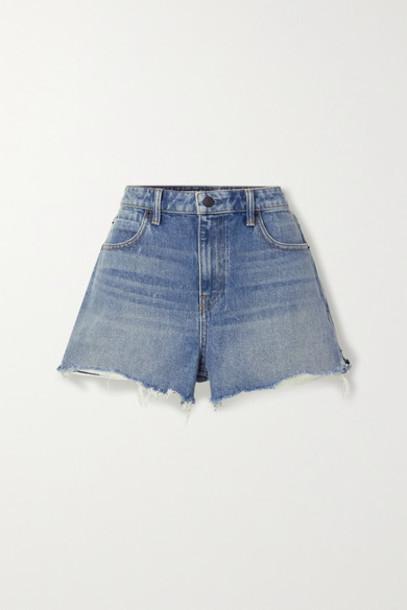 Alexander Wang - Bite Frayed Denim Shorts - Blue