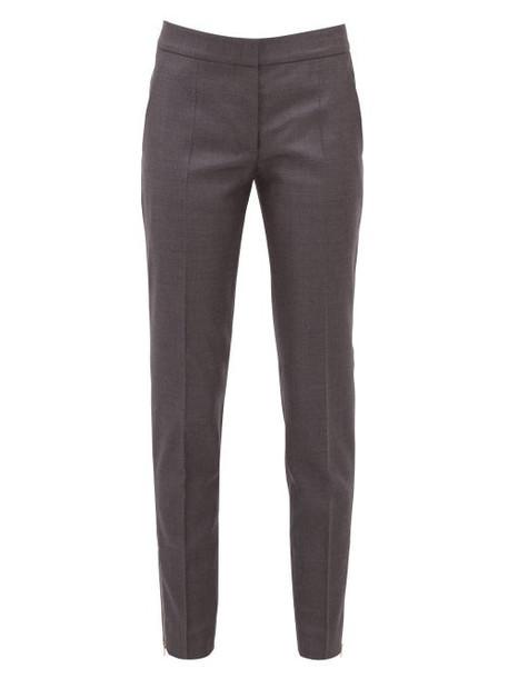Stella Mccartney - Vivian Zip Cuff Wool Trousers - Womens - Grey