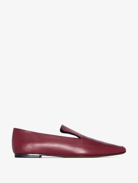 Neous Burgundy Prom Flat Leather Loafers