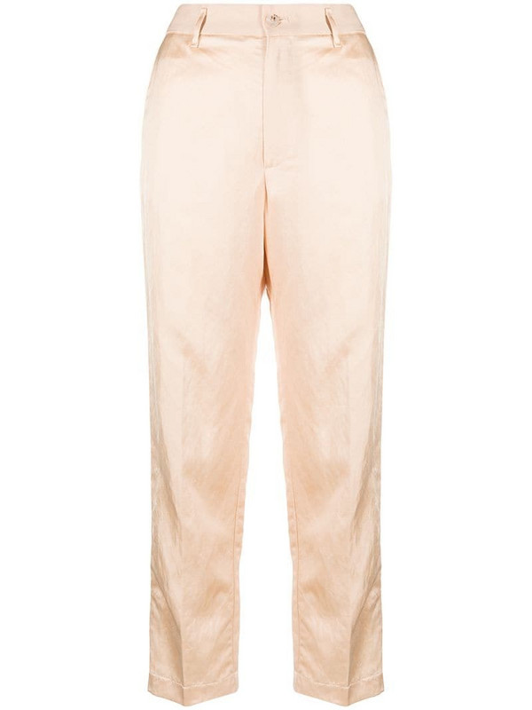 Forte Forte high-waist cropped trousers in neutrals