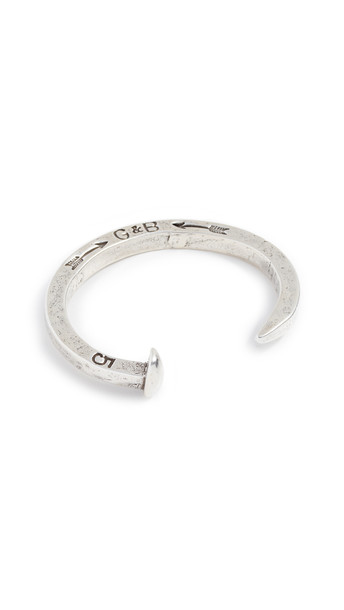 Giles & Brother Original Railroad Spike Cuff in silver