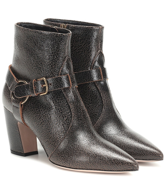 Miu Miu Leather ankle boots in brown