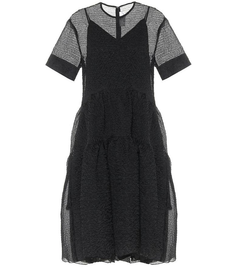 Victoria Victoria Beckham Cloqué midi dress in black