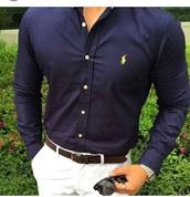 shirt,navy,slim fit,polo shirt,menswear,dark blue