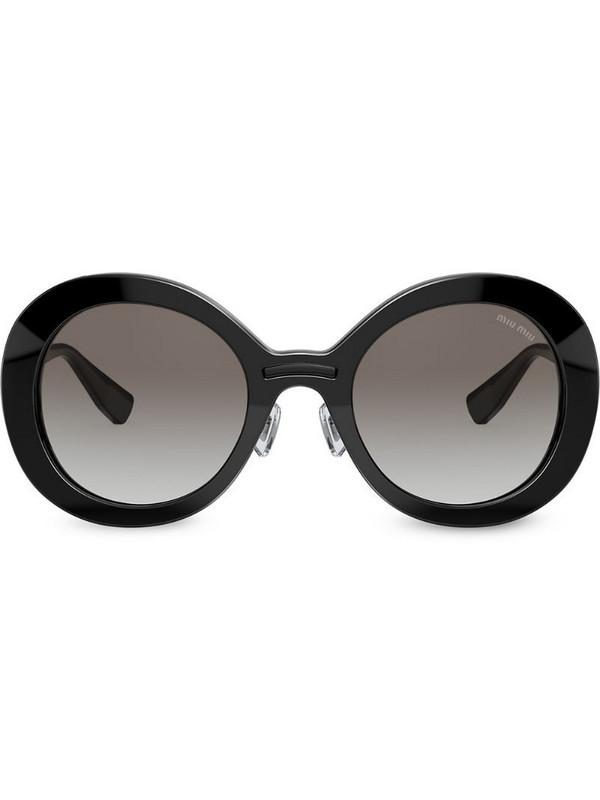 Miu Miu Eyewear round tinted sunglasses in black