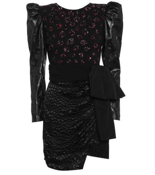 Dundas Sequined minidress in black