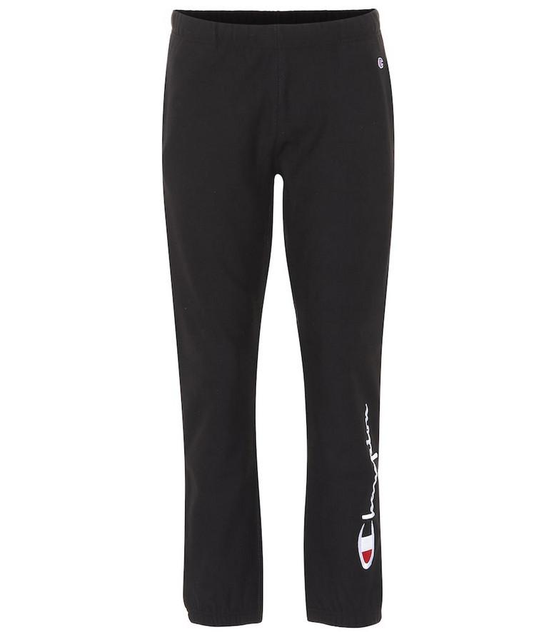 Champion Cotton-blend sweatpants in black