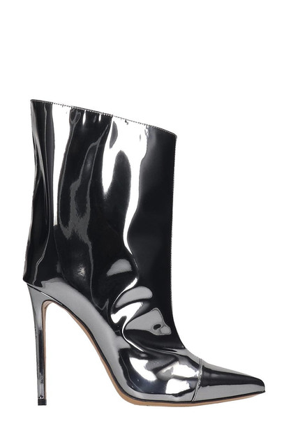Alexandre Vauthier Ankle Boots In Silver Leather