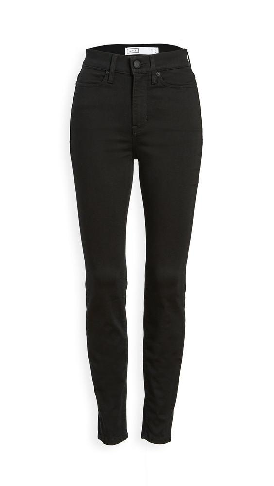 AYR Hi-Rise Skinny Jeans in black