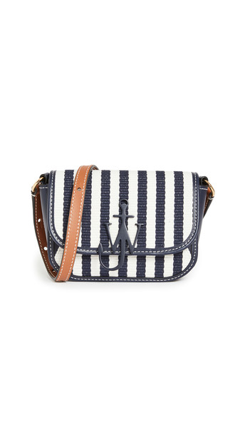 JW Anderson Nano Anchor Bag in navy / white
