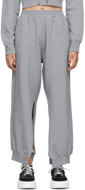 MM6 Maison Margiela SSENSE Exclusive Grey Slit Lounge Pants