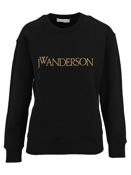 J.W. Anderson Jw Anderson Embroidered Logo Sweatshirt in black