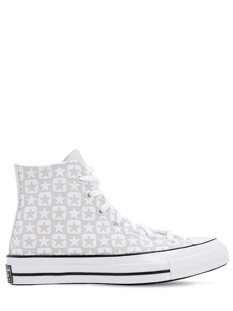 CONVERSE Chuck 70 Flocked Canvas - Hi Sneakers in white