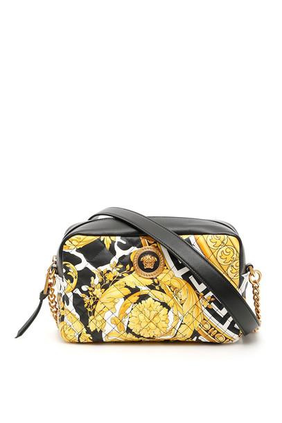 Versace Barocco Crossbody Bag in black / bianco