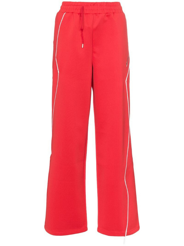 Ader Error Contrast piping track pants in red