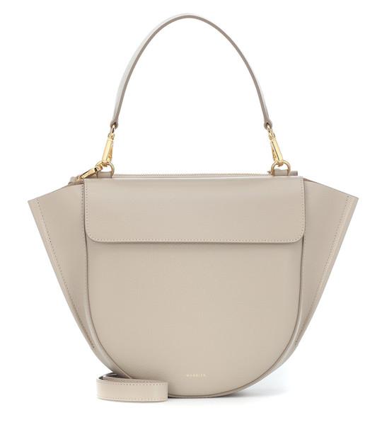 Wandler Hortensia Medium leather shoulder bag in grey